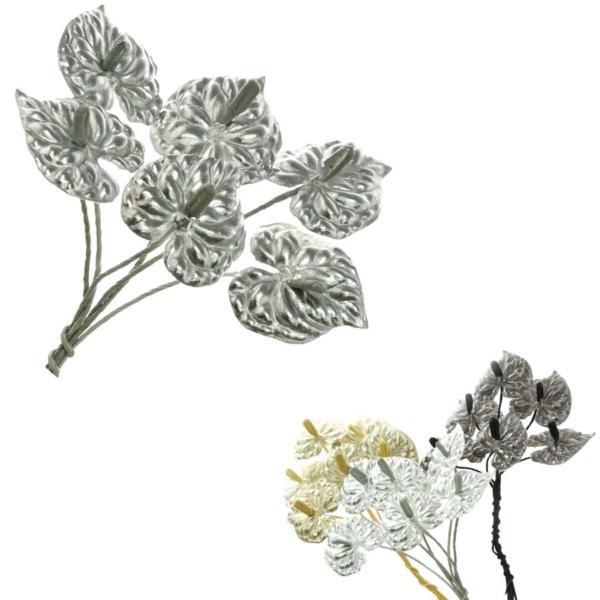 Flores de Piel Anturio, resistente e ideal para crear tu tocado