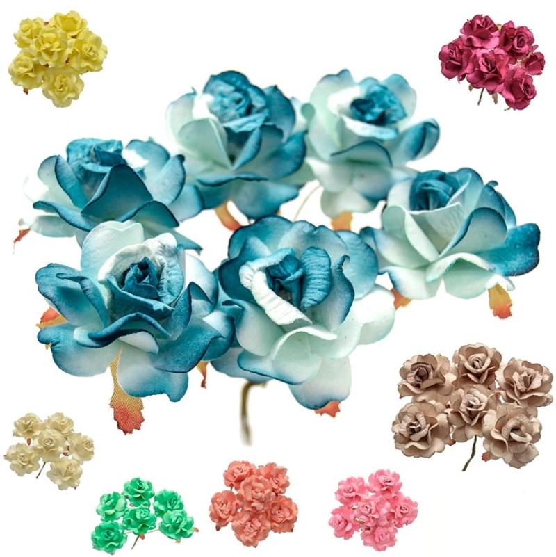 Ramillete Open Roses, rosas realizadas en papel