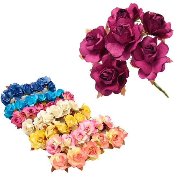 Ramillete Rania, rosas realizadas en papel
