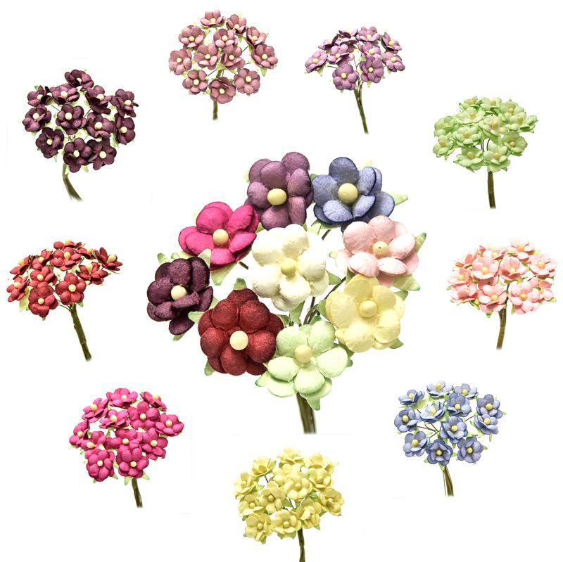 Ramillete eli, con flores realizadas en papel