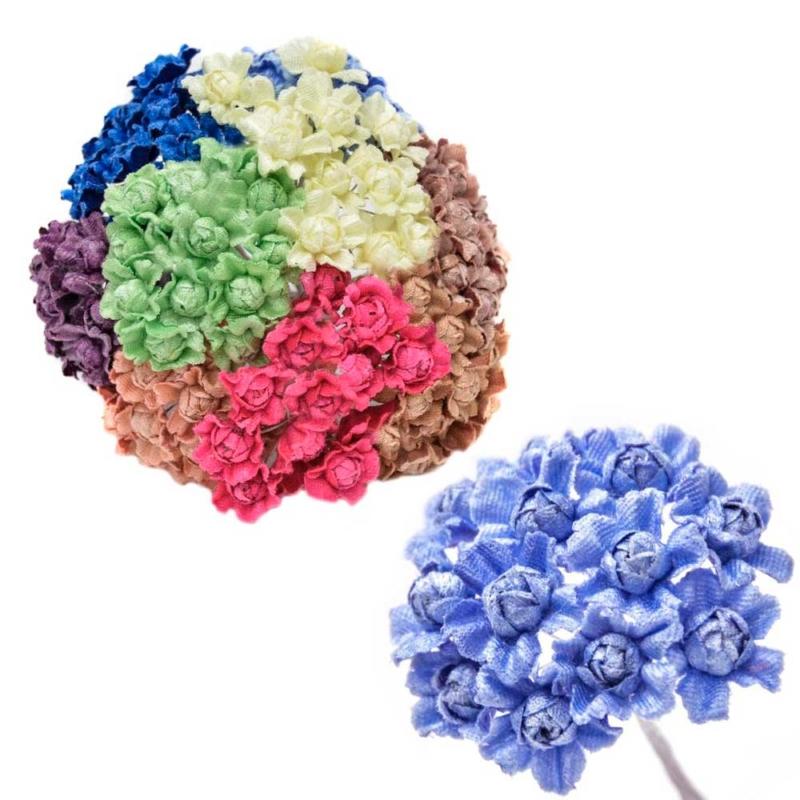 Ramillete Liliann, elaborado con flores de terciopelo
