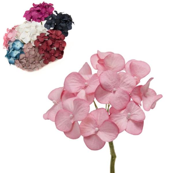 Ramillete Mini Hortensia, realizado en fibra de papel