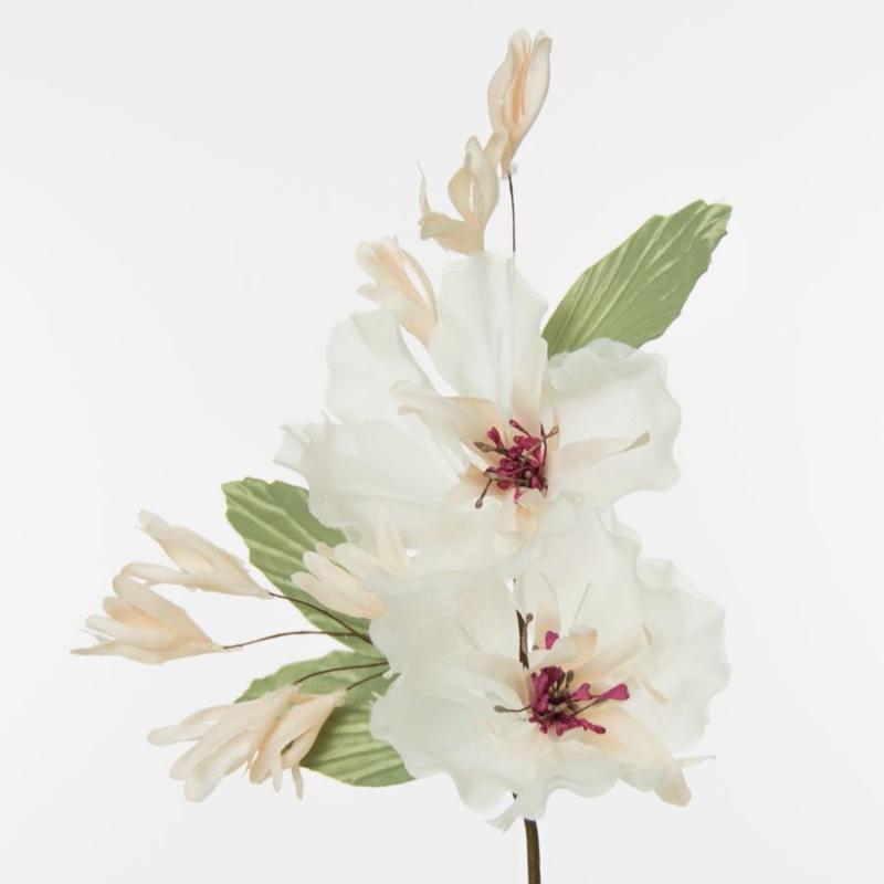 Flor Mara, montaje fabricado en organza y raso de seda