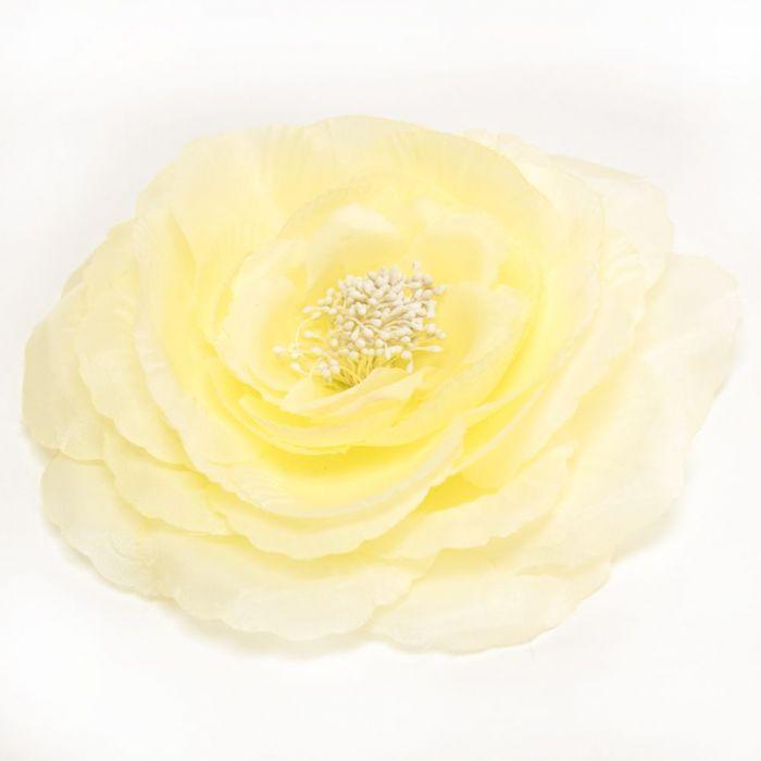 Flor Claudette Amarillo, en raso