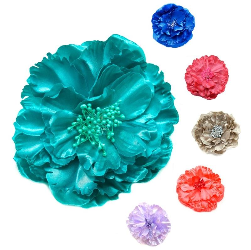 Flor Juliette, en raso, gran variedad de colores