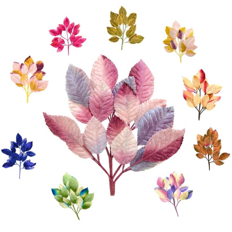 Rama Xian, de hojas alambradas realizadas en terciopelo