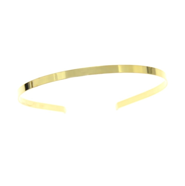 Diadema metal, de un elegante acabado dorado