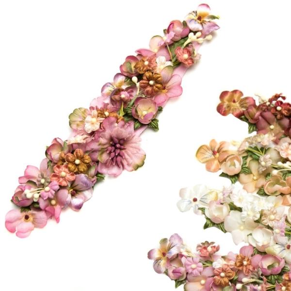 Montaje Belle Epoque de mini flores
